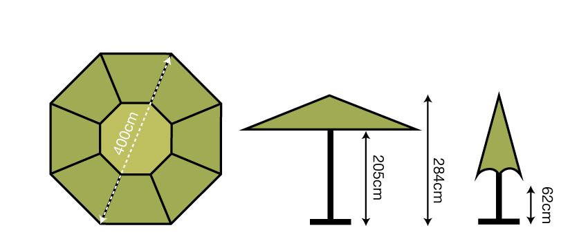 4m Octagonal Parasol